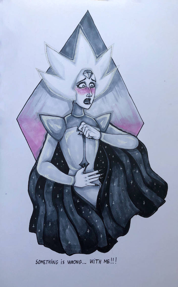 "OMG ""Change Your Mind"" was amazing! So much things to draw on fan-arts... I've decided to start with blushing White Diamond because she was kinda cute :3 Made in Copics"