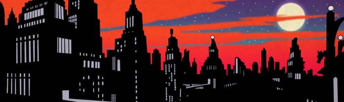 Gotham City Silhouette by redpyrocat