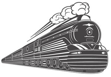 Art Deco Train Vector Design by wall-decal-shop