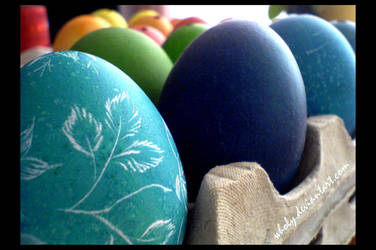 Coloured eggs by wholy