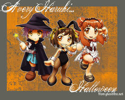 A Very Haruhi Halloween by ghostfire