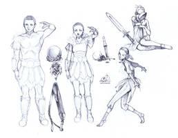 Random Skyrim Type Sketches by ghostfire