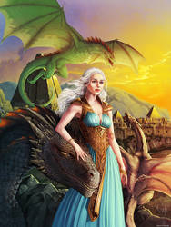 Games of Thrones - Daenerys -  Mother of Dragons by ghostfire