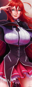 Rias Gremory - Crimson Princess - Closeup by ghostfire