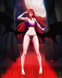 Rias Gremory - Crimson Princess - Lingerie Version by ghostfire