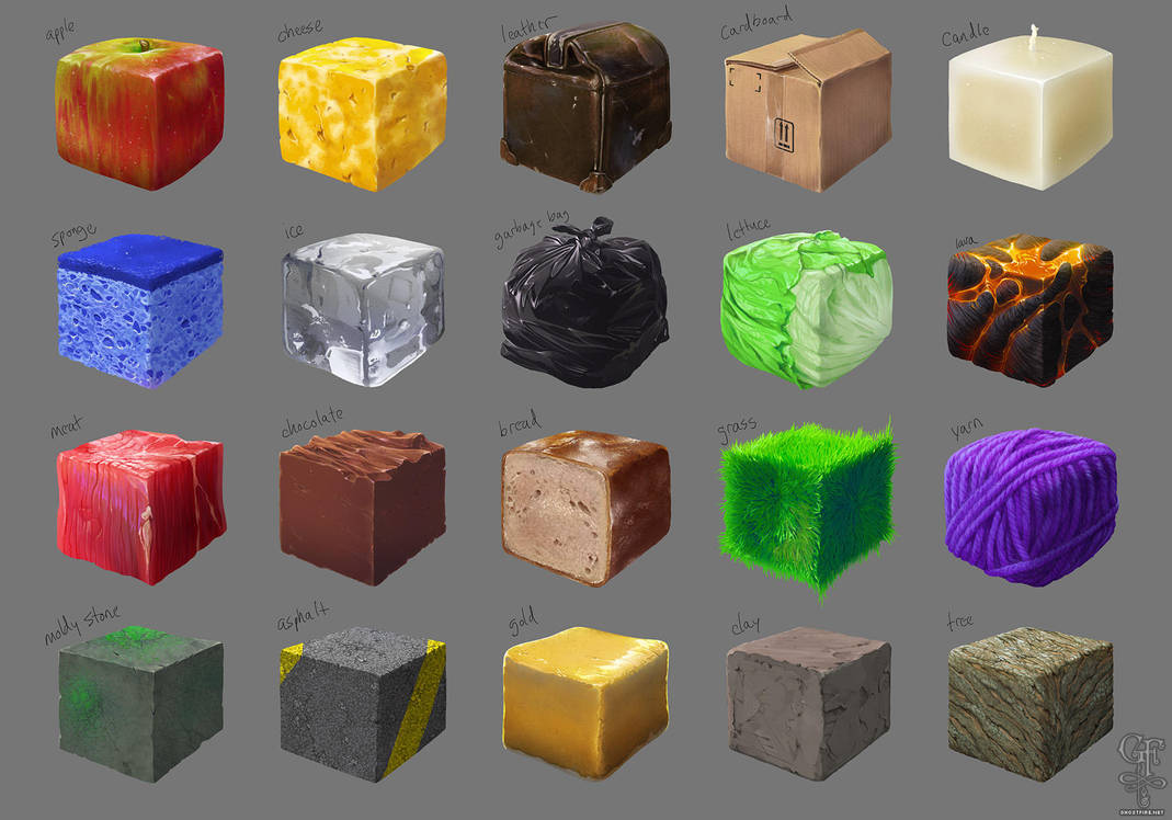 Material Studies x20 by ghostfire