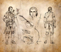 Half-Elf Bard Character Sheet by ghostfire