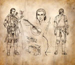 Half-Elf Bard Character Sheet by ghostfire