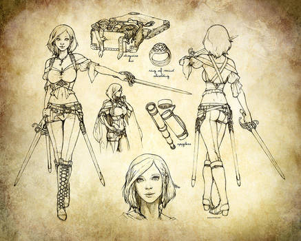 Aasimar Swashbuckler Rogue Character Sheet by ghostfire