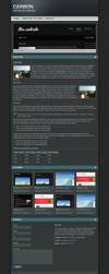Carbon One Page Portfolio by peex