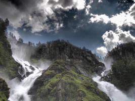 Laatefossen in Norway by EiAndersen