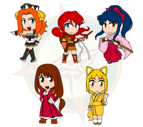 Assorted Chibis - Project X Wow by Dragon-FangX