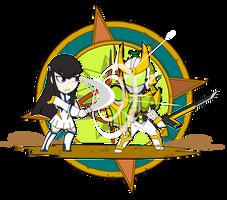 ChibiCOMBAT - Satsuki v Zangetsu by Dragon-FangX