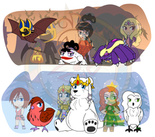 Holiday Havoc #3 - Holiday Critters by Dragon-FangX