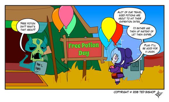 Trader Lydia - Free Potion Day by Dragon-FangX