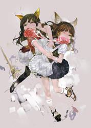 catfight by uturo128