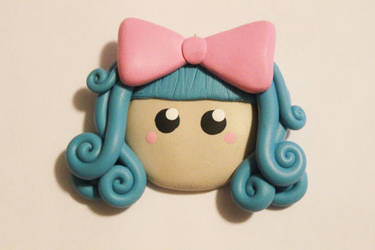 Polymer Clay Head Charm by CharmStop