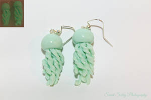 Polymer Clay Jellyfish Earrings by CharmStop
