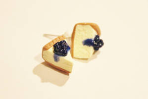 Polymer Clay Blueberry Cheesecake Earrings by CharmStop