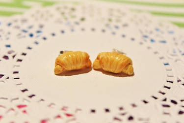 Miniature Croissant Studs by CharmStop