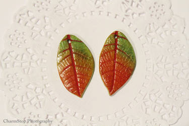 Autumn Leaf Pendants by CharmStop