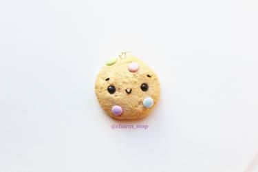 Kawaii Pastel Cookie Pendant by CharmStop