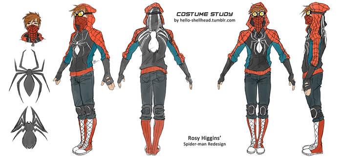 COSTUME STUDY - rosy's spidey by FISHNONES
