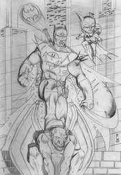 Batman of Zur-en-arrh Pencils by stefankarlsson