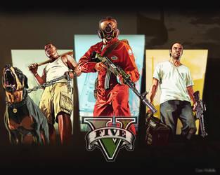 GTA V: Fan Art by CeeJayWaffles
