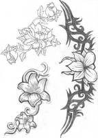 Tattoo - Flowers by ReeaChan