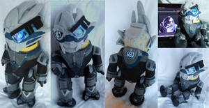 Garrus Plush - Mass Effect 3 by Nikiette