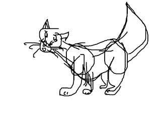 A Cat that I drew In Class :3 hehe by Alitario-Le-Wolf