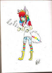 A Friend Drew This AMAZING Art For Me :) by Alitario-Le-Wolf
