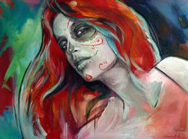skull girl 5 by cocoaspen