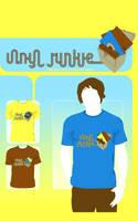 Vinyl Junkie : T-Shirt Design by atobgraphics
