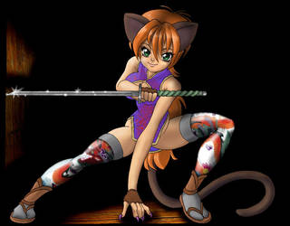 Kitty Ninja by nekonoko
