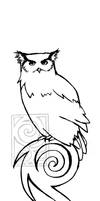 owl tattoo by 0ctober23