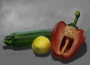 Vegetable study #2 by Lyraina