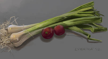 Vegetable study #3 by Lyraina