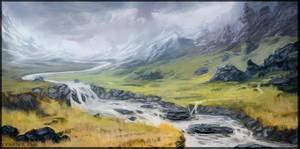 Yellow Grass by Lyraina