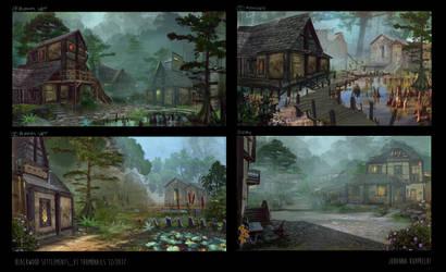 Skyblivion - Blackwood Thumbnails by Lyraina