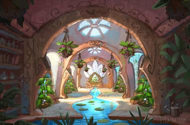 Throne Room of Beginning by Lyraina