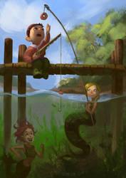Fishing by Lyraina