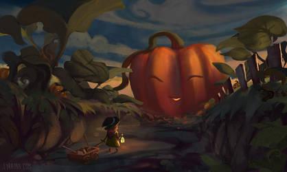 Pumpkin Harvest by Lyraina