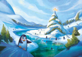 Penguin Greetings by Lyraina