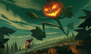 Pumpkin Chase by Lyraina