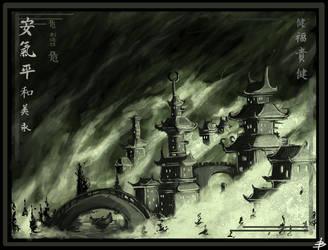Gloomy Pagodas by mobius-9