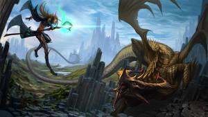 Dragon Battle by mobius-9