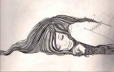 just sleep (ink) by bitterkmysweetkitty