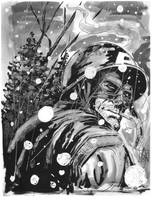 Cap in WW2 Winter Time Sketch by anthonymarques